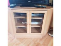 Tv unit and matching cupboard. Excellent condition.