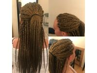 Betty Afro Caribbean and Caucasian hair stylist for Braids, Weaves, cornrows, crochet &Boxer braids