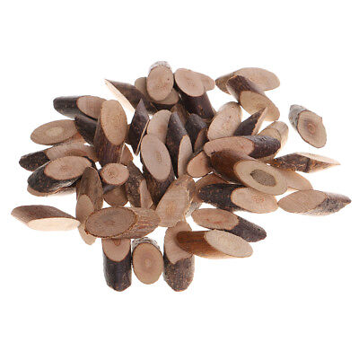 100pcs Natural Wood Oval Log Slices Tree Bark for Wedding Centerpieces Decor (Wood Slices For Centerpieces)
