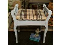 Piano stool - Annie Sloan Louis Blue