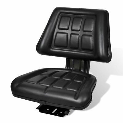 Vidaxl Tractor Seat W Backrest Black Slide Track Steelpvc Compact Mower