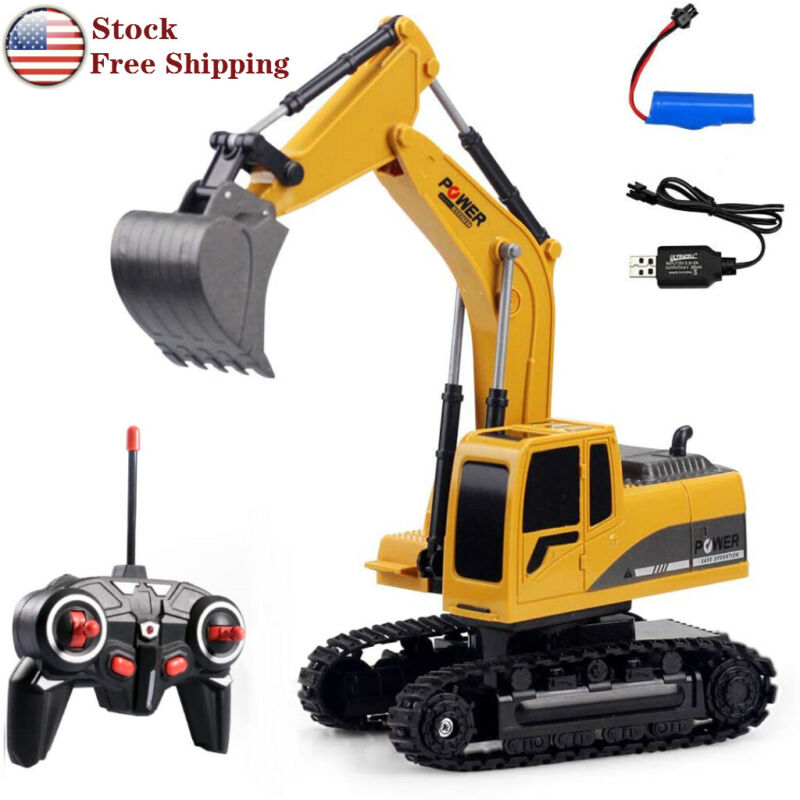 Remote Control Excavator RC Car Tractor  Truck Toy Digger Vehicle 6 Channel 1:24