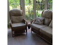 Conservatory furniture, made up of 2 chairs, sofa, plus two other items