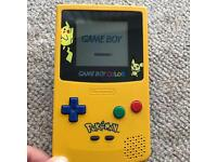 Official Nintendo Gameboy colour Pokemon Pikachu version Rare Retro Gaming