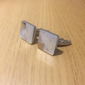 Cufflinks - silver and squared