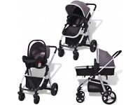 3in1 Pram/ carrycot, pushchair, car seat - travel system