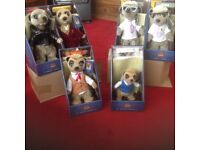 Five meerkats in original boxs with certificates