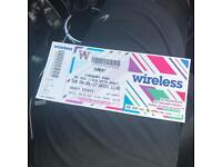 Wireless ticket sunday!! Been sold....!!!