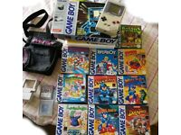 Original Game Boy + 10 boxed games