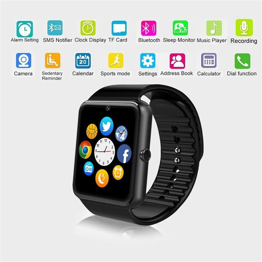 Men Bluetooth Smart Watch Camera For Android Samsung