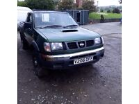 Breaking green nissan navara D22 TD25 4x4 parts spares conversion king cab
