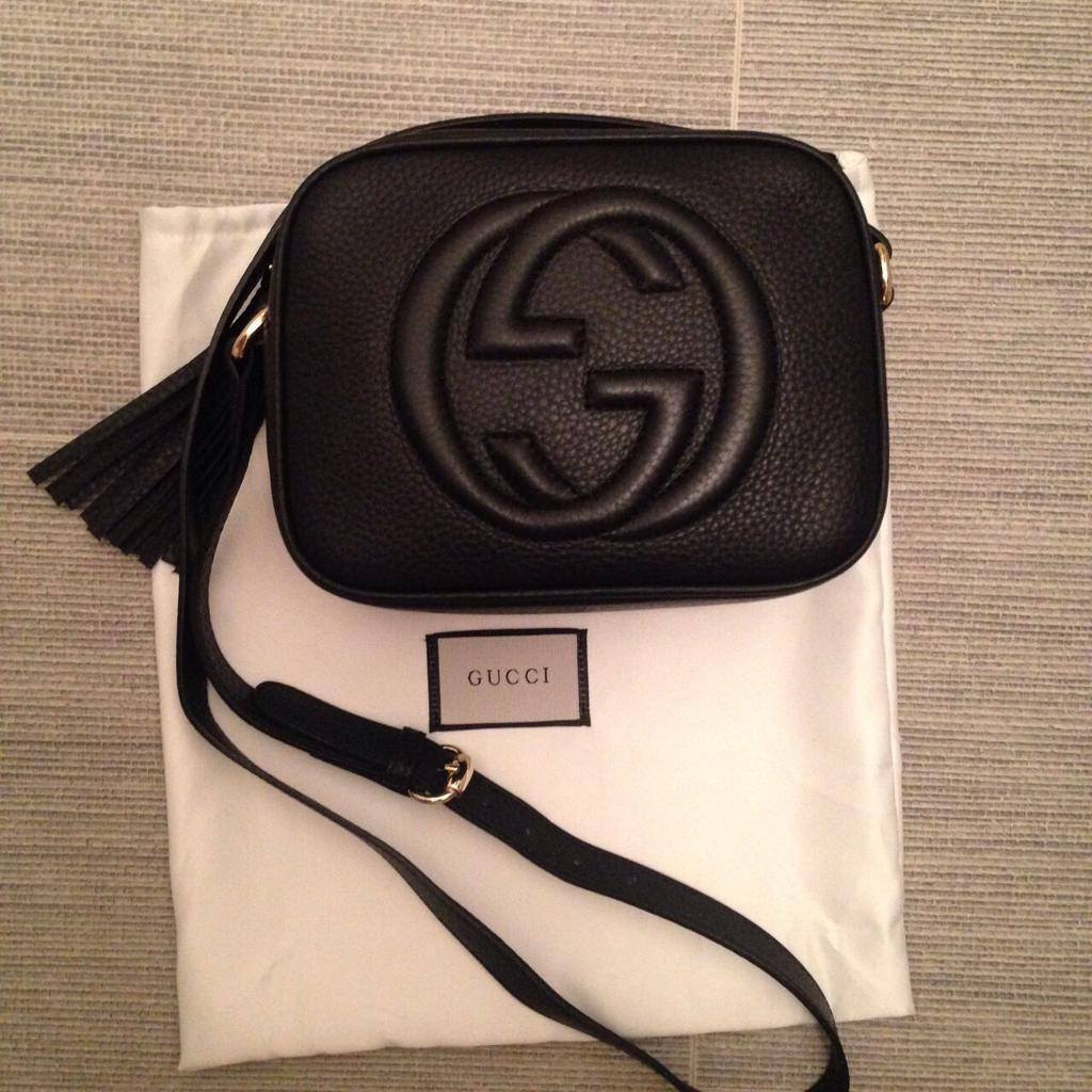 6b6e89a401 Black pebbled leather Gucci soho disco bag | in Motherwell, North ...