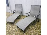 Pair of Comfy Sun loungers