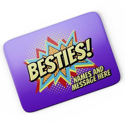 Personalised Best Friends Mouse Mat Pad Computer Gaming Bestie Girls Gift
