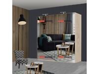 ✨✨SUPPER DUPPER FAST DELIVERY FULL MIRROR ETNA SLIDING WARDROBE AVAILABLE IN STOCK🎇🎆