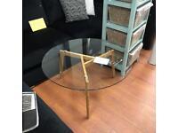 Brand new glass coffee table £59