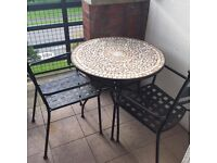 Patio furniture M&S table and 2 chairs great cond