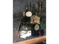 Various antique and vintage militaria items for sale