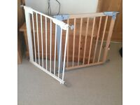 Two stair gates for narrow stair cases