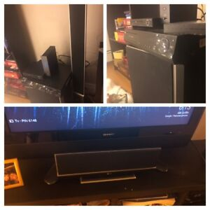 LG 5-Disc DVD changer and surround sound