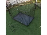 Large collapsible dog cage