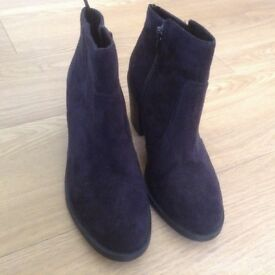 Black heeled ankle boots, H&M, unworn, size 38.