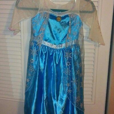 Lot of 2 Disney Frozen Anna And Elsa Dress-up HalloweenCostumes Disney store (Elsa And Anna Costume)