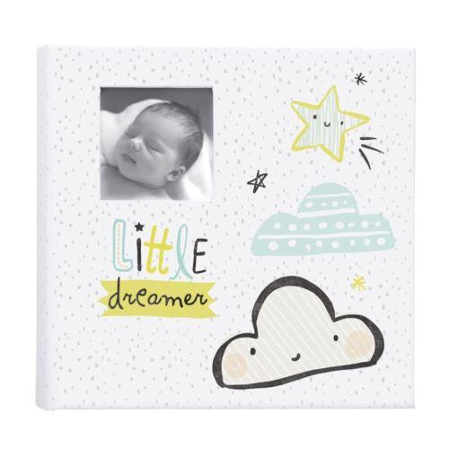NEW CR Gibson Little Dreamer Gender Neutral Baby Girl Boy Keepsake Photo Album