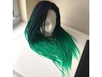 Ombre box braids / synthetic hair / braid extensions / hair braiding