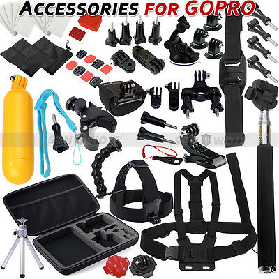 59in1 Head Chest Mount For GoPro Hero 2 3 3+ 4 SJ4000 Camera Accessories Set Kit