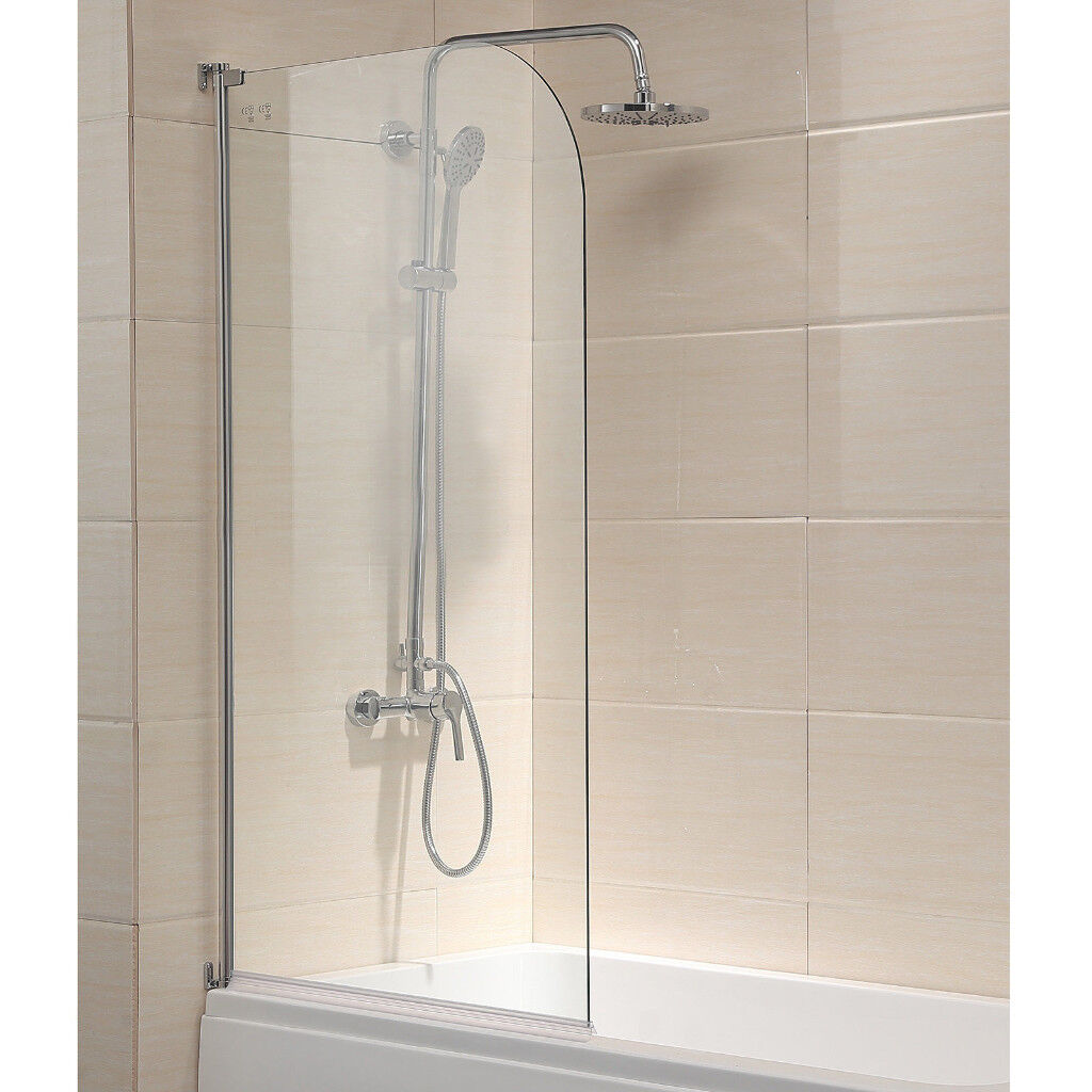 New Frameless Bath Shower Screen Left Righthand 180 Pivot