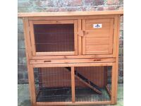 Rabbit or guinea pig hutch. Nearly new.