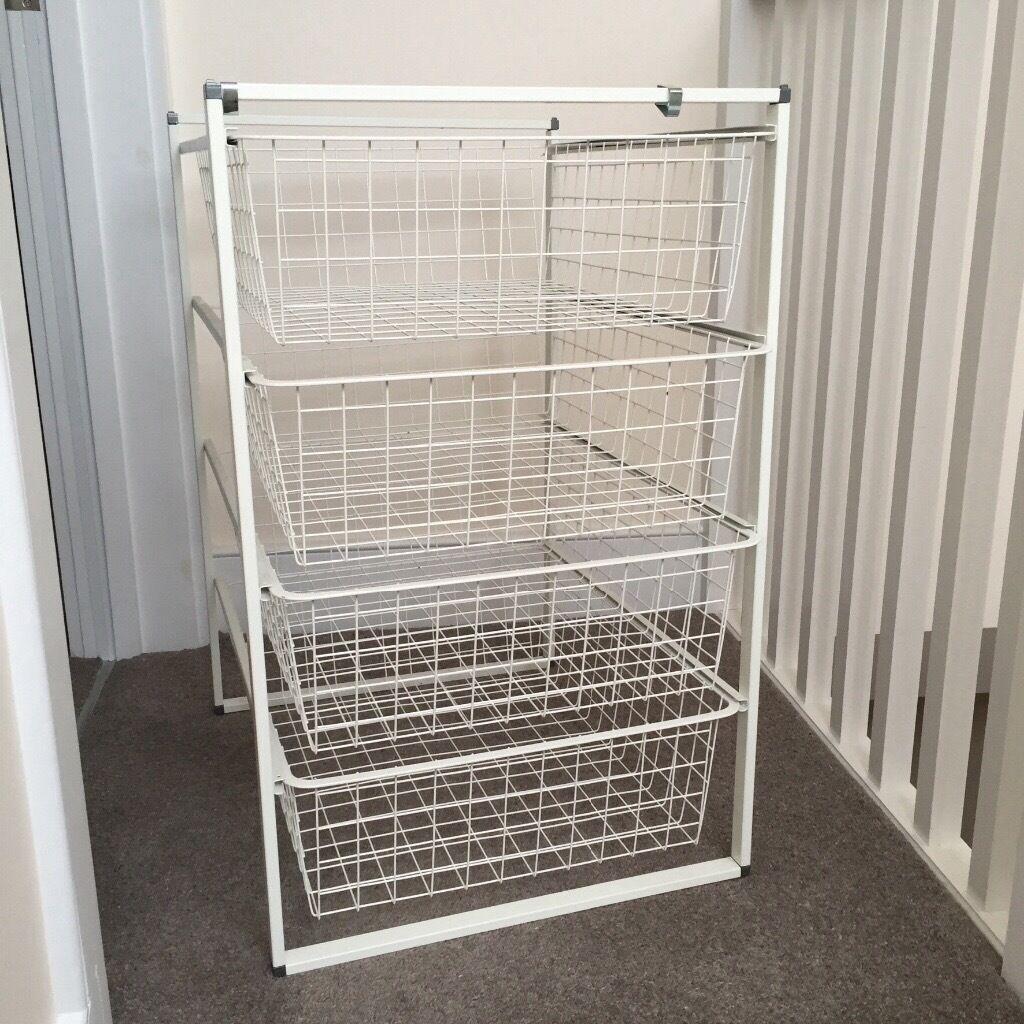 4 Drawer Wire Basket Storage Unit Excellent Condition 15 In & Wire Basket Storage Unit | New House Designs