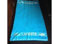 Brand New 100% cotton lacoste towel
