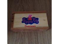 Peppa Pig wooden domino set complete with box