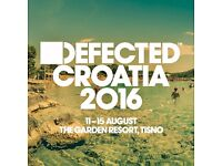 2 x tickets to DEFECTED Croatia 2017 (10th - 15th August)