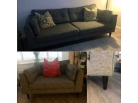 Sofology Cricket 4 Seater Sofa & Love Seat (delivery option available)
