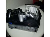 HYBRID Sony PlayStation 2 + PS1 retro console - 2TB hdd !