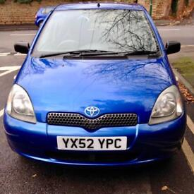 Toyota Yaris 1.0L 5 Door Hatchback 2002 Blue £1295 1 owner From new
