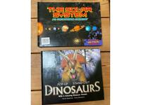 Kids Dinosaurs pop up book/solar system jigsaw book