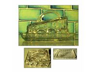 Vintage Retro Glass Cheese / Butter Dish