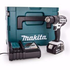 Makita DHP482RFWJ Cordless Drill DC18RC Charger + 1 x 3.0Ah Battery BL1830B + Makpac Type 2 Case New