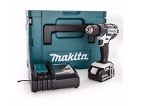 Makita DHP482RFWJ Cordless Drill DC18RC Charger + 1 x 3.0Ah Battery BL1830B + Makpac Type 2 Case New