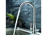 Kitchen Bathroom Chrome Mixer tap Hot Cold - brand new boxed