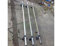 3 RHINO ROOFBARS FOR PEUGEOT BOXER