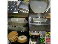 Cake tins, cookie cutters, loaf tins, pie dishes etc
