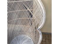 Large Peacock wicker chair