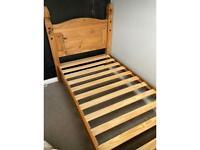Corona single bed frame
