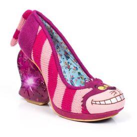 Irregular Choice Cheshire Cat Shoes - Size UK 5 (38) - Brand New - Light Up - Alice In Wonderland