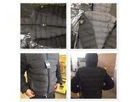 Stone island jacket with hood in grey